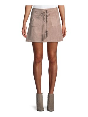 cupcakes and cashmere Marcel Lace-Up Mini Skirt