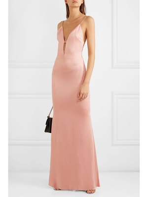 Cushnie cutout hammered-satin gown