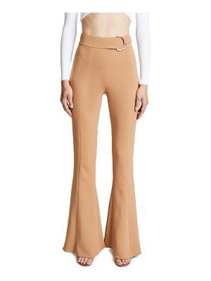 Cushnie et Ochs high waist flares with d-ring buckle