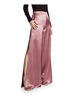 Cushnie et Ochs high waisted wide leg pants with side slits