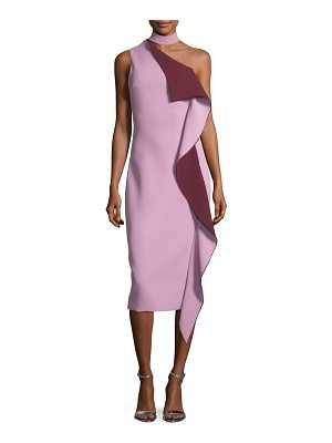 Cushnie Ruffled One-Shoulder Midi Dress
