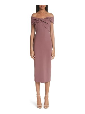 Cushnie et Ochs twist off the shoulder sheath dress