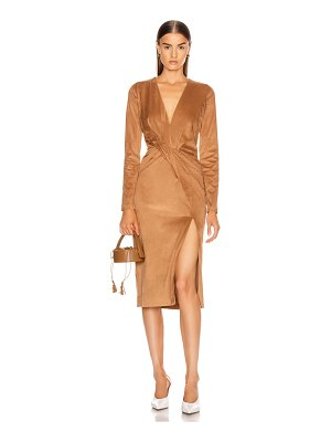 Cushnie long sleeved plunging dress