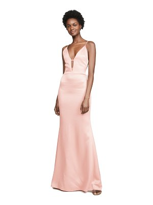 Cushnie plunging sleeveless gown