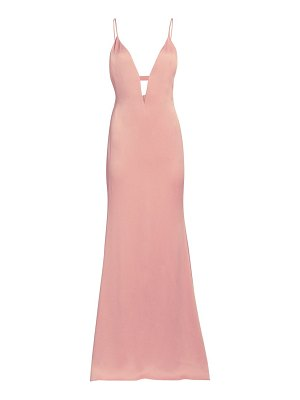 Cushnie plunging v-neck satin gown