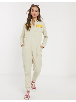 Daisy Street boilersuit with contrast pockets