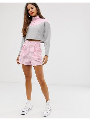 Daisy Street high waist gingham shorts