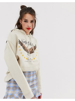 Daisy Street hoodie with eagle graphics