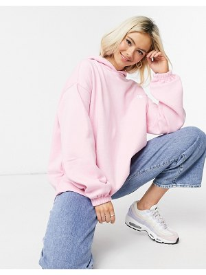Daisy Street oversized hoodie with yin yang embroidery in pastel-pink