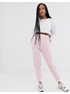 Daisy Street relaxed cuffed sweatpants-pink