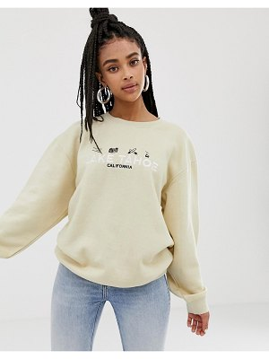 Daisy Street relaxed sweatshirt with lake tahoe embroidery