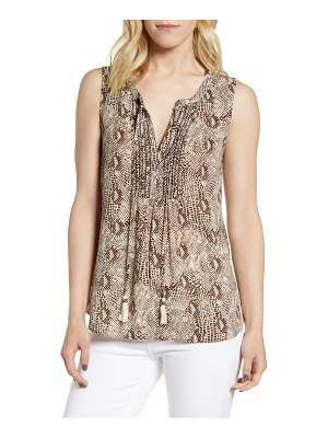 Daniel Rainn snakeskin print sleeveless top