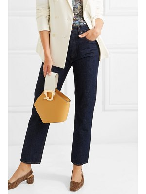 Danse Lente johnny mini smooth and textured-leather bucket bag