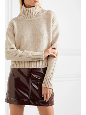 DAUGHTER &fintra cropped wool turtleneck sweater
