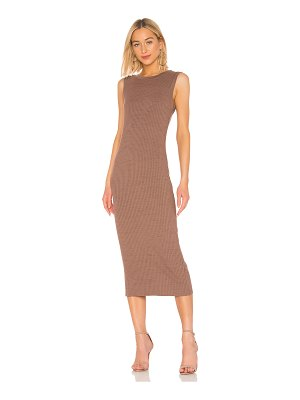 David Lerner scoop back muscle midi dress