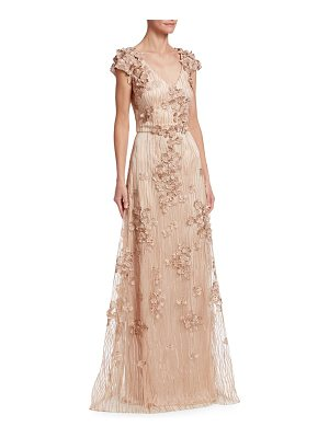 DAVID MEISTER Floral Embellished Gown