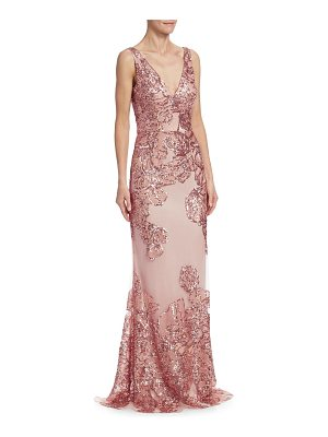 DAVID MEISTER Sequin Embellished Gown