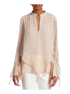 DEREK LAM 10 CROSBY check silk blouse