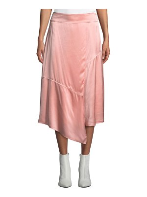DEREK LAM 10 CROSBY Draped Asymmetric Satin Midi Skirt