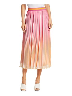 DEREK LAM 10 CROSBY pleated ombré midi skirt