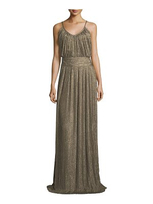 DEREK LAM 10 CROSBY Pleated Sleeveless Maxi Dress