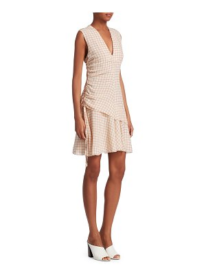 DEREK LAM 10 CROSBY v-neck check sleeveless dress