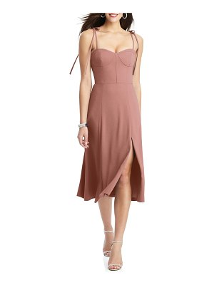Dessy Collection bustier crepe a-line dress
