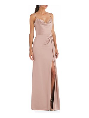 Dessy Collection cowl neck evening gown