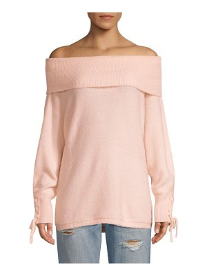 DH New York lace sleeve convertible sweater