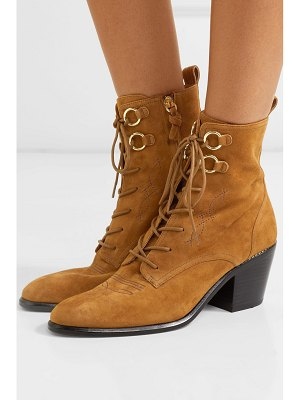 Diane Von Furstenberg dakota lace-up suede ankle boots