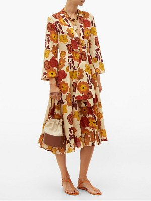 DODO BAR OR charlotte tie-front floral-print cotton midi dress