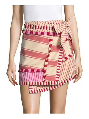 DODO BAR OR hoze asymmetric striped skirt
