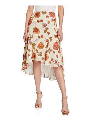 DODO BAR OR Kathy Floral-Print High-Low Skirt