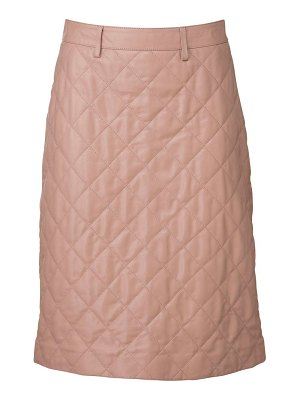 DODO BAR OR Lona quilted leather midi skirt