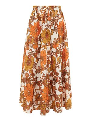 DODO BAR OR marina floral-print tiered cotton skirt