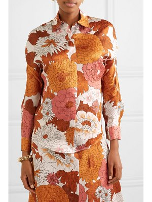 DODO BAR OR noemie floral-print silk-jacquard shirt