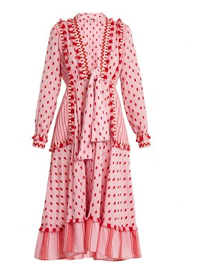 DODO BAR OR Padma Polka Dot Cotton Midi Dress