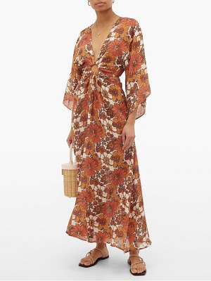 DODO BAR OR shelly cut-out floral-print dress