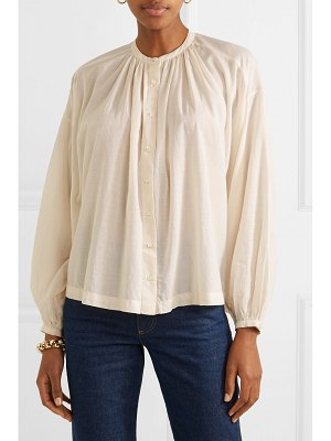 DÔEN the jane gathered cotton-blend voile blouse
