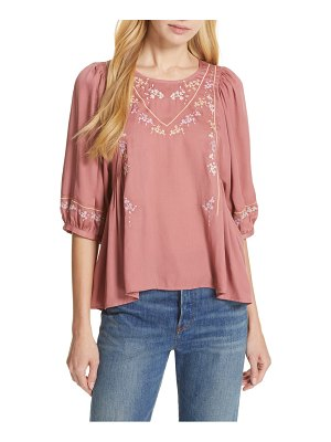 dolan rose embroidered top