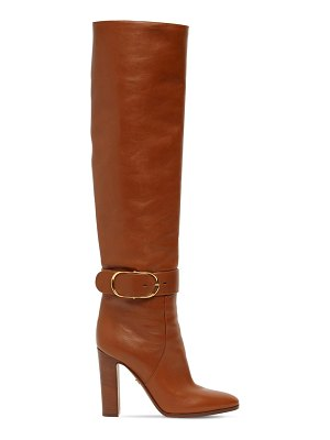 Dolce & Gabbana 105mm leather tall boots