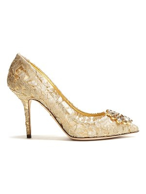 Dolce & Gabbana Belluci crystal-embellished lace pumps