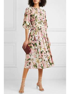 Dolce & Gabbana belted floral-print silk-georgette midi dress