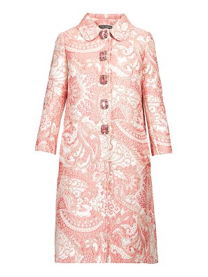 Dolce & Gabbana crystal button paisley brocade coat
