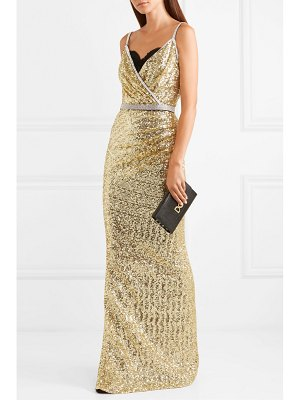 Dolce & Gabbana crystal-embellished sequined stretch-satin gown