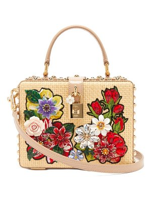 Dolce & Gabbana crystal-embellished wicker box bag