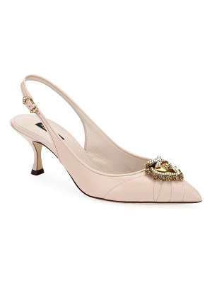 Dolce & Gabbana Devotion Leather Slingback Pumps