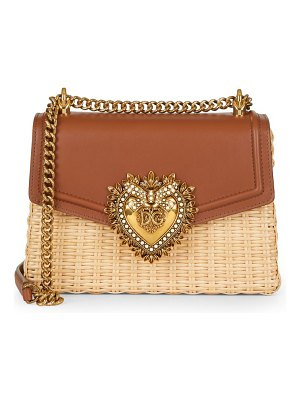 Dolce & Gabbana devotion wicker & leather shoulder bag