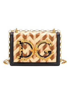 Dolce & Gabbana DG Girl Jeweled Baroque Chain Shoulder Bag