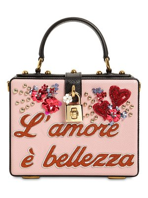 Dolce & Gabbana Dolce box l'amore è bellezza leather bag